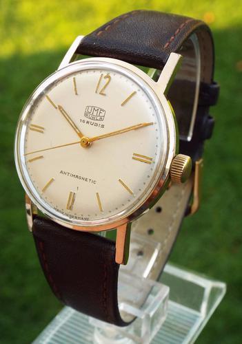 Gents 1960s Umf Ruhla Wrist Watch (1 of 1)