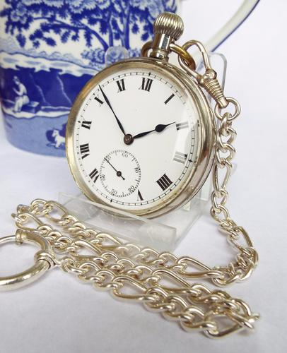 Early 20th Century Cyma Pocket Watch with Chain (1 of 1)