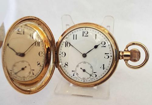 1930s Rands Full Hunter Pocket Watch (1 of 1)