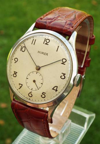 Good Sized Gents Nimer Wrist Watch c.1940 (1 of 1)
