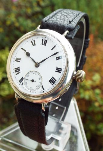1910 Gents Silver IWC Trench Watch (1 of 1)