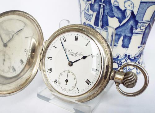 Antique Hunter Pocket Watch, Thomas Russell (1 of 1)