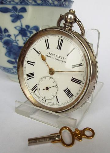 Antique Silver Acme Lever Pocket Watch by H Samuel (1 of 1)