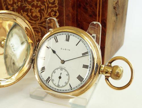 1925 Elgin Hunter Pocket Watch, Glasgow Police (1 of 1)