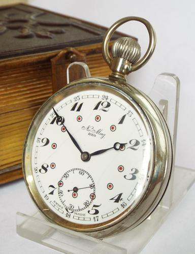 1930s No-Mag 820 Pocket Watch by Usher Mfg Co (1 of 1)