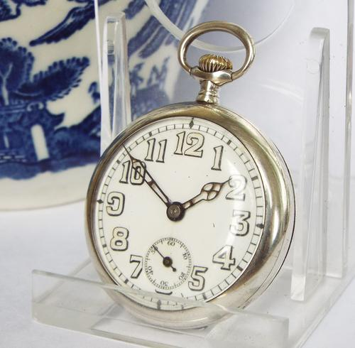 Small Silver Marvin Pocket Watch, Glasgow 1917 (1 of 1)