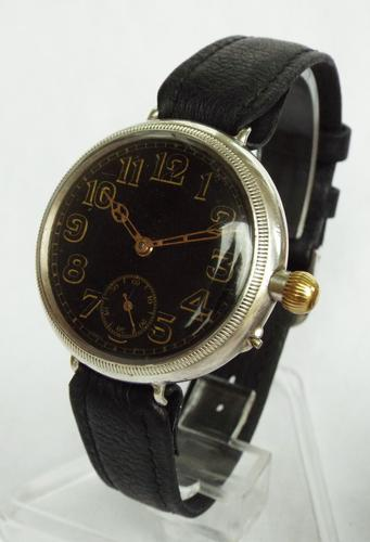 Antique Borgel Cased Silver Trench Watch, 1916 (1 of 1)