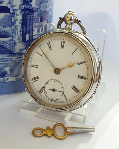Antique Silver Pocket Watch 1901, William Ehrhardt (1 of 1)