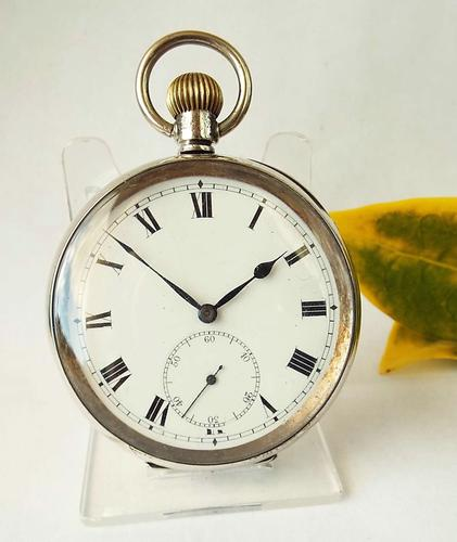 Antique Silver Pocket Watch, 1918 (1 of 1)