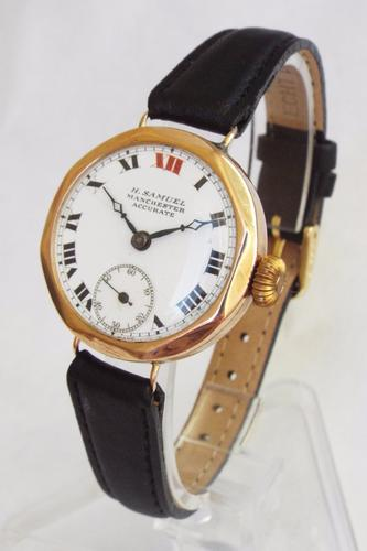 9ct Gold Accurate Wrist Watch by H Samuel, 1927 (1 of 1)