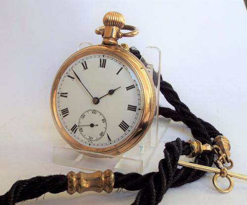 1930s Satisfaction Pocket Watch with Horse Hair Albert (1 of 1)