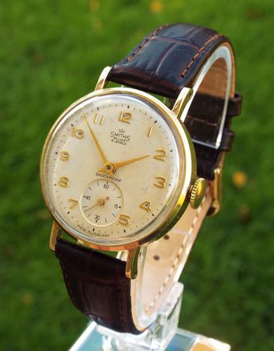 Gents 9ct Gold Smiths De Luxe Watch, Morris Motors, 1962 (1 of 1)