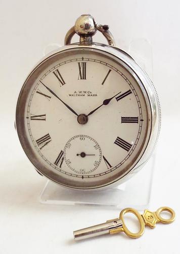 Antique Silver Waltham Pocket Watch, 1898 (1 of 1)