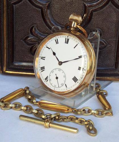 1920s Nirvana International Pocket Watch with Chain (1 of 1)