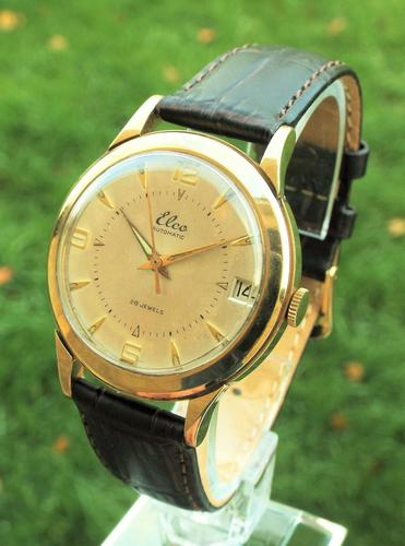 Late 1950s Elco 9 Carat Gold Wrist Watch (1 of 1)