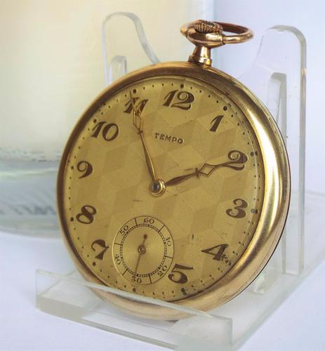 Vintage 1930s Tempo Pocket Watch (1 of 1)