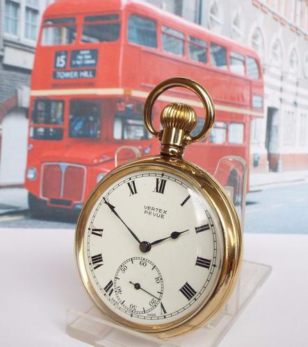 Vertex Revue Pocket Watch, London Transport, 1940s (1 of 1)