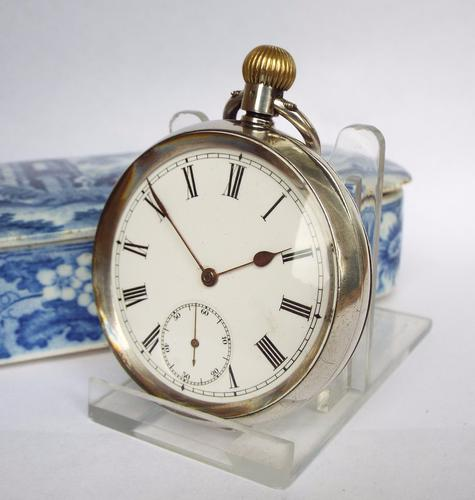 Antique Silver Omega Pocket Watch c.1910 (1 of 1)
