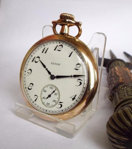 Elgin Gold Plated Pocket Watch, 1927 (1 of 1)