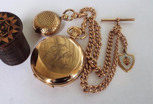 Nirvana Full Hunter Pocket Watch, Albert & Sovereign Holder (1 of 1)