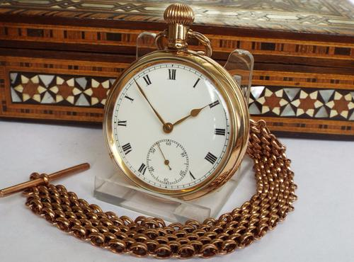 Early 20th Century Gold Plated Pocket Watch & Albert (1 of 1)