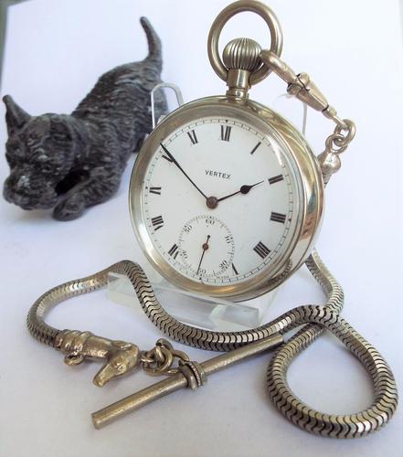 1930s Vertex Pocket Watch with Unusual Dog Albert (1 of 1)