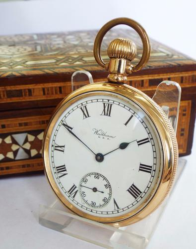 1921 Waltham Gold Plated Pocket Watch (1 of 1)