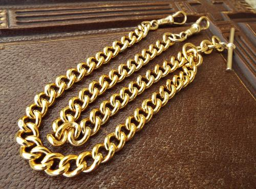 Silver Gilt Pocket Watch Chain, Hallmarked for Chester 1904 (1 of 1)