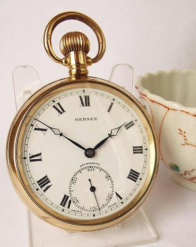 1930s Bernex Stem Winding Pocket Watch (1 of 1)