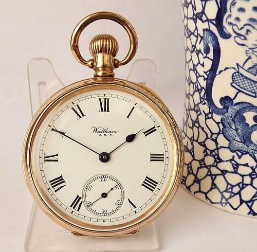 Antique Stem Winding Waltham Pocket Watch 1919 (1 of 1)