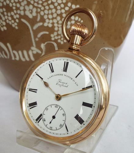 Antique Prescot Pocket Watch, Lancashire Watch Co (1 of 1)