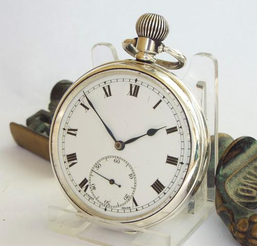 1921 'Geddes Axe' Silver Pocket Watch, Military (1 of 1)
