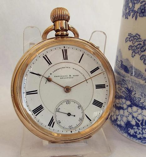 Antique Waltham Pocket Watch Originally Retailed by Fattorini & Sons of Bradford (1 of 1)