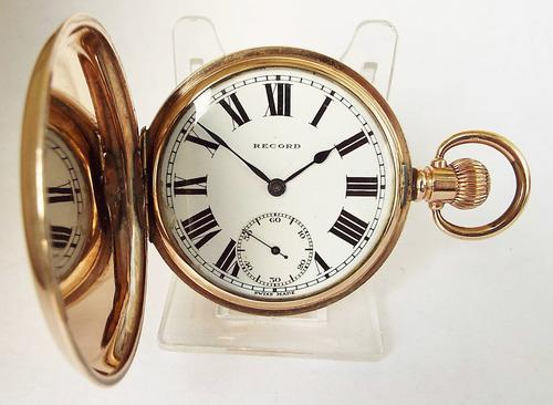1920s Record Full Hunter Pocket Watch (1 of 1)