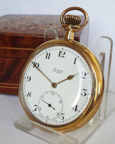 1930s / 1940s Gold Plated Limit Pocket Watch (1 of 1)