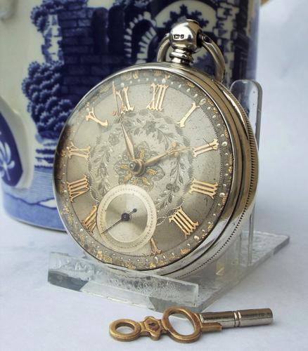 1874 Silver Pocket Watch, Newcastle Under Lyne (1 of 1)