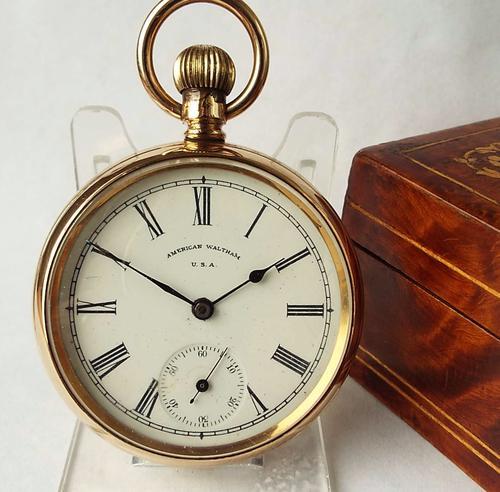 Antique 14ct Gold Filled Waltham Traveler Pocket Watch, 1906 (1 of 1)