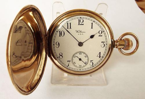 1919 Waltham Traveler Full Hunter Pocket Watch (1 of 1)