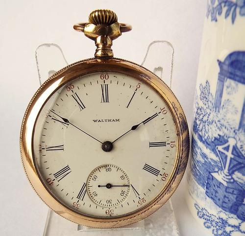 Antique Gold Filled Waltham Pocket Watch, 1908 (1 of 1)