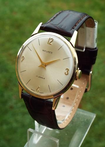 Gents 9ct Gold Dress Watch by Walker, 1966 (1 of 1)