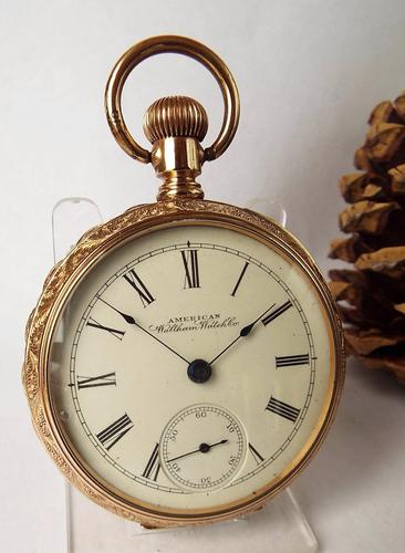 Large Ornate Waltham Pocket Watch, 1895 (1 of 1)