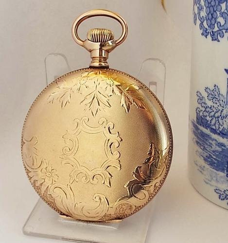 1900s Waltham Traveler Full Hunter Pocket Watch (1 of 1)