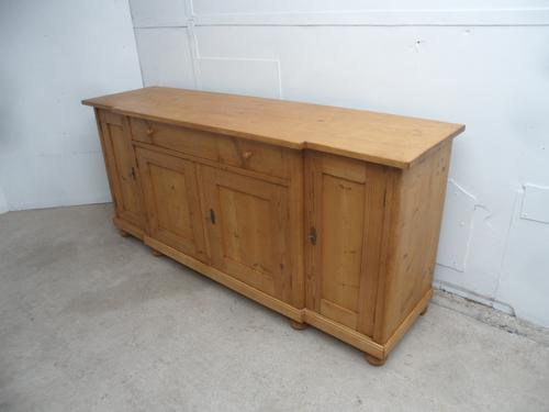 Fantastically Waxed 2 Metre Antique Pine Kitchen Dresser Base / TV Stand (1 of 8)