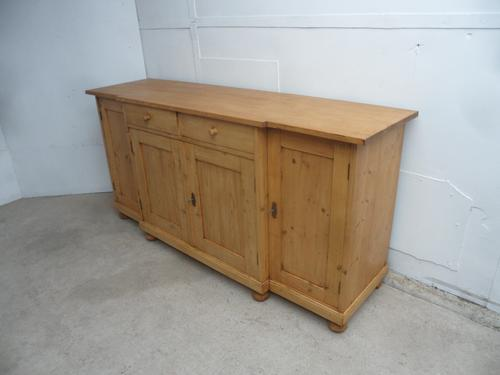 Quality Waxed 4 Door 2 Drawer Antique Pine Kitchen Dresser Base/Tv Stand (1 of 8)