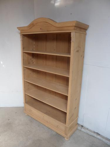 Great Arch Top Antique Pine 1 Drawer Book / Office Shelves to Wax / Paint (1 of 9)