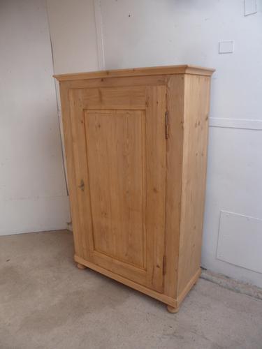 Large Antique Pine 1 Door Victorian Storage / Kitchen Cupboard to wax / paint (1 of 8)