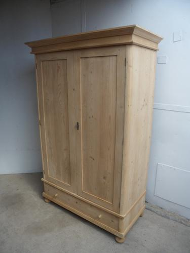 Rounded Deep Antique Pine Knockdown Wardrobe to wax / paint (1 of 8)