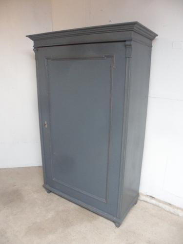 Superbly Painted Early Victorian Antique Pine Hall Wardrobe to wax / paint (1 of 11)