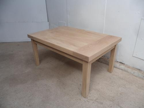 Lovely English Solid Oak Handmade Large Coffee / Sofa / Lamp Table to Wax / Limewash (1 of 8)