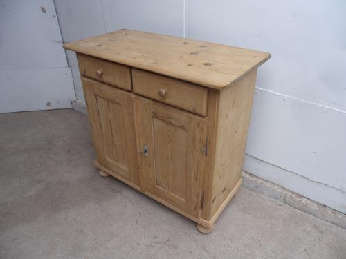 Really Pretty Pine Pin Hinge Dresser Base to wax / paint c.1920 (1 of 1)